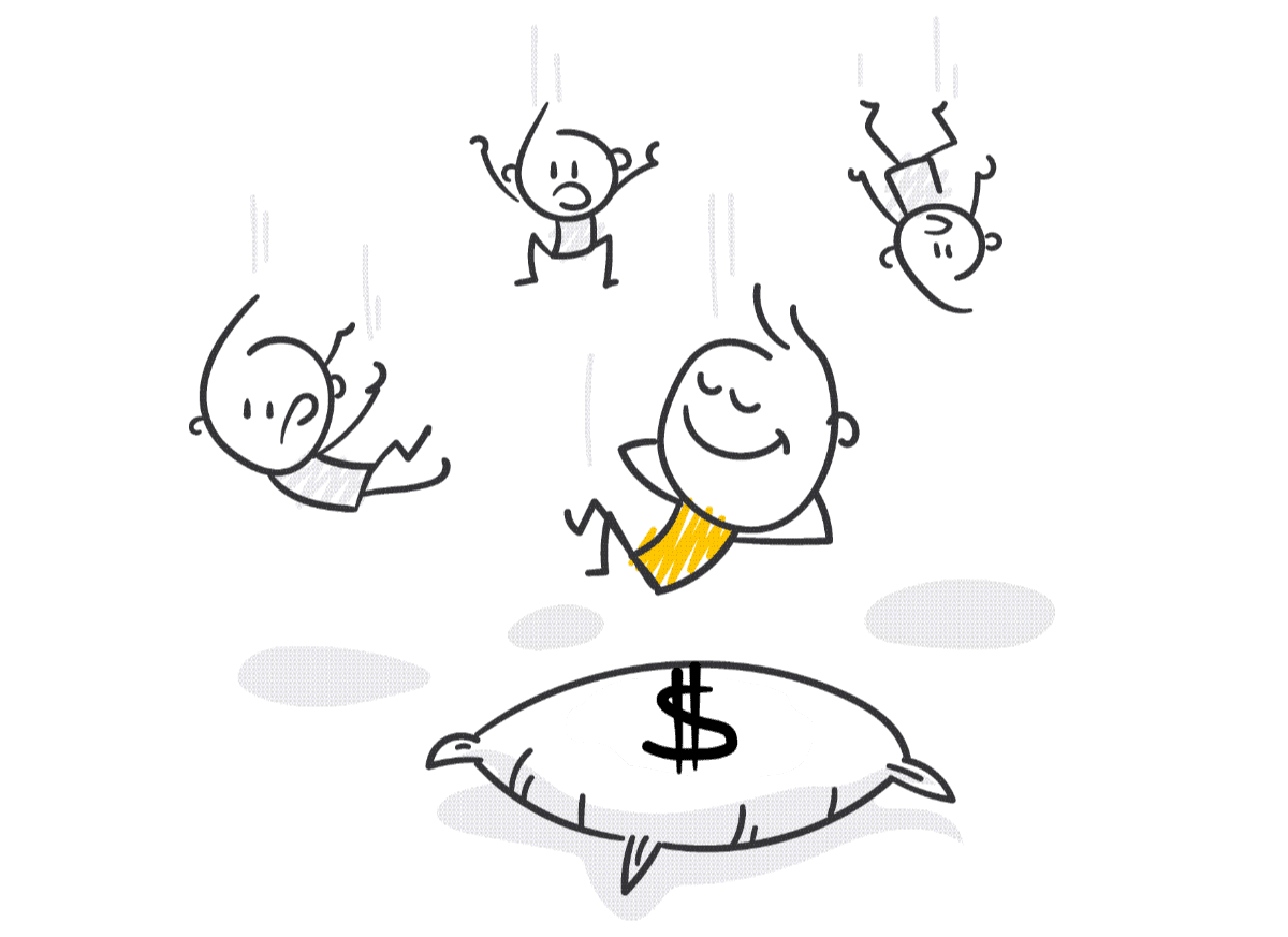 Great Wealth Transfer - Falling on a pillow of money
